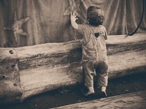 boy reaching for stars