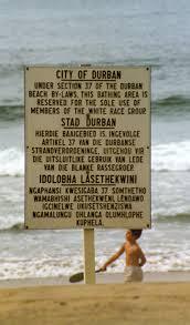 Apartheid Durban Beach