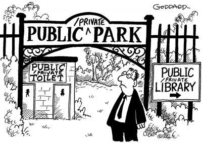 private public park